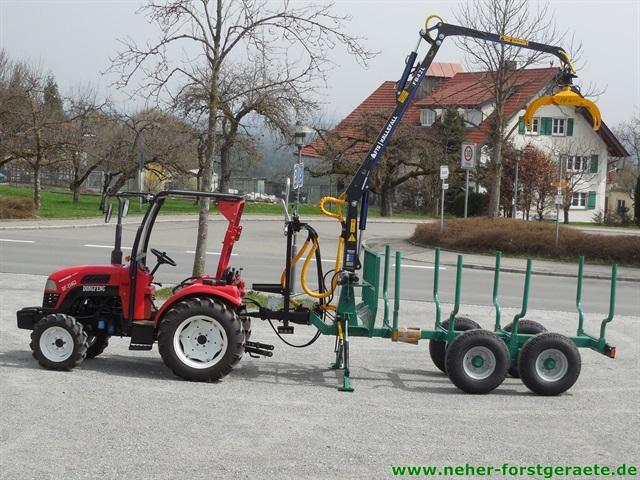 forstner r ckewagen f r kleine traktoren neher forstger te. Black Bedroom Furniture Sets. Home Design Ideas